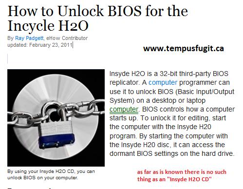 Insyde h2o bios mod windows