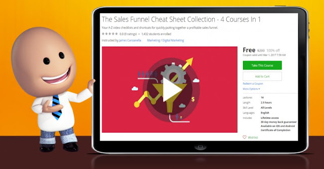 [100% Off] The Sales Funnel Cheat Sheet Collection - 4 Courses In 1|Worth 200$