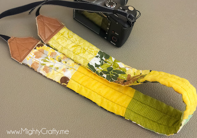 MightyCrafty.me - Quilted Camera Strap