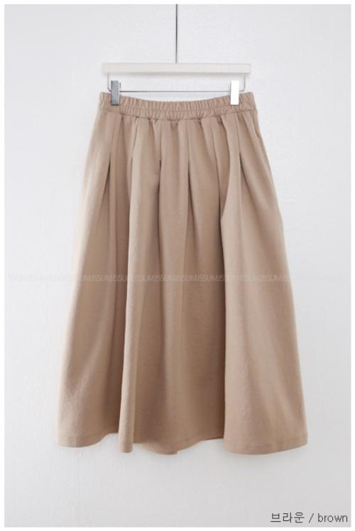 Garterized Waist Dart Tuck Skirt