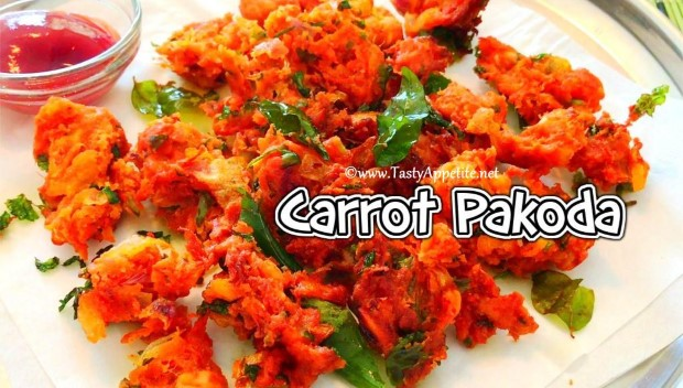 carrot pakora recipe