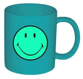 Blue Smiley Mug