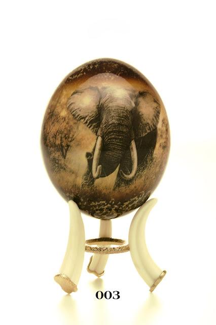 Ostrich Eggs Decoupage - Elephant