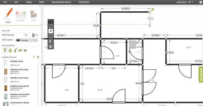 تطبيق سهل لتصميم خريطة المنزل ببساطة مجلتك المعمارية