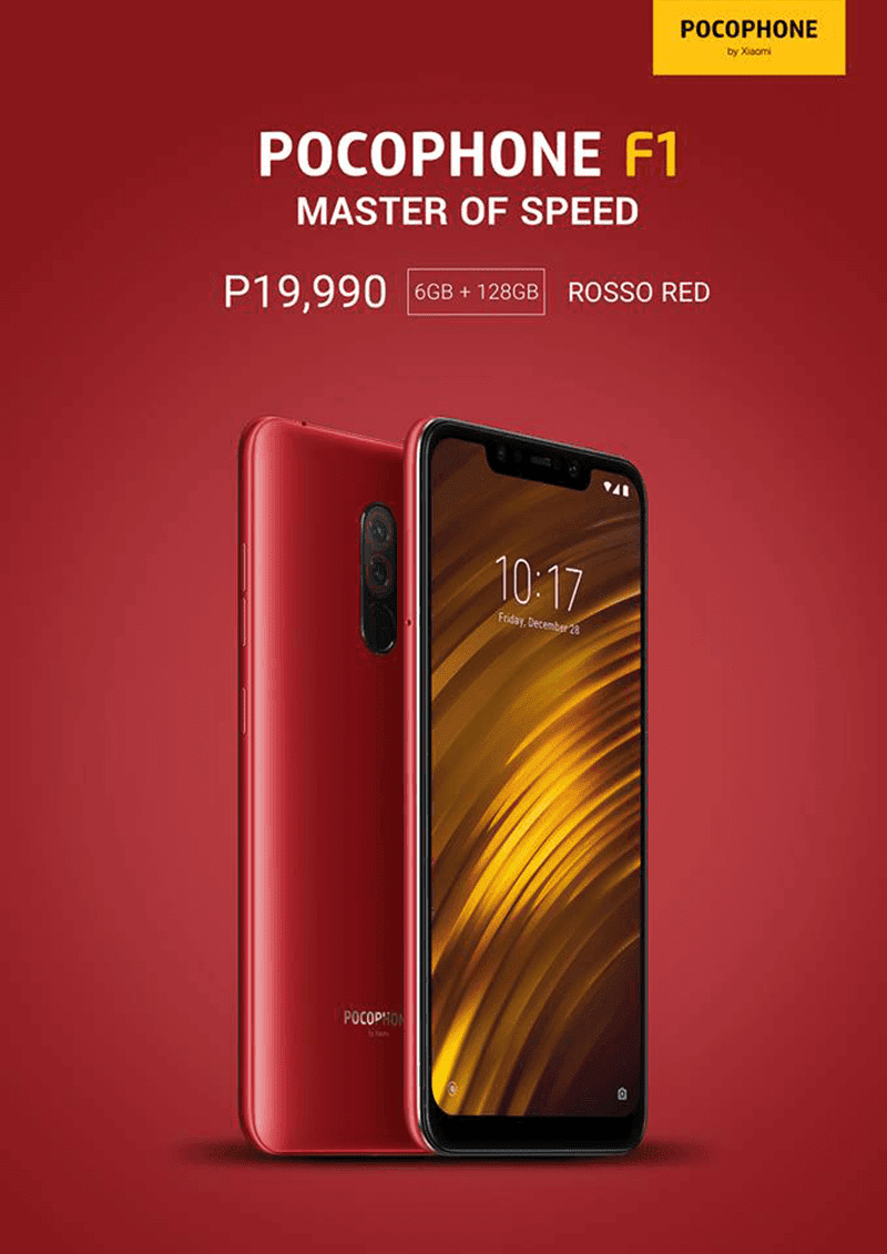 POCOPHONE F1 rosso red is now available in PH