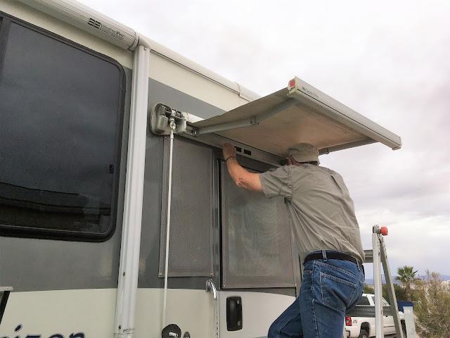 Blue Roads Journal Repairing Your Oasis Elite Door Awning