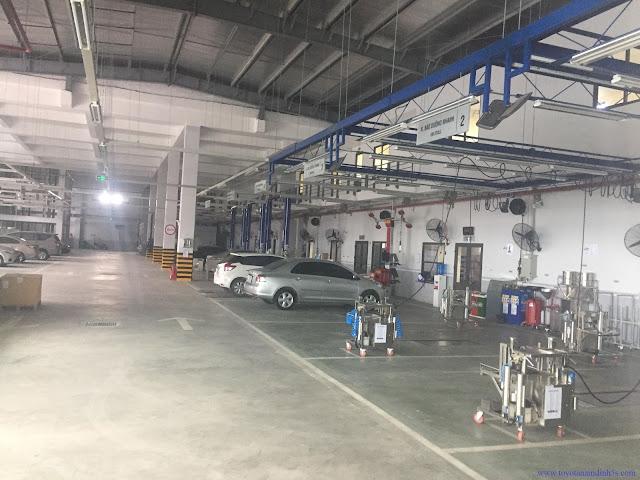 Phòng dịch vụ sửa chữa Toyota Nam Định