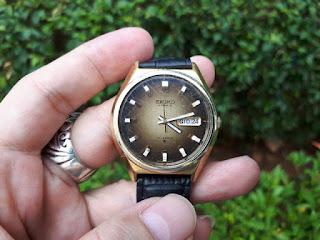 Jam Antik Seiko Sunburst Automatic Cal 6309-8060 Men's Watch Japan Made SK002