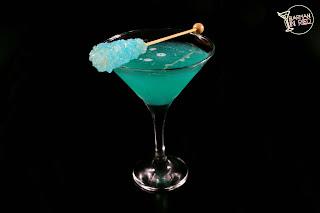 margarita terciopelo azul