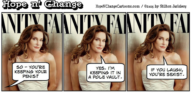 obama, obama jokes, political, humor, cartoon, conservative, hope n' change, hope and change, stilton jarlsberg, bruce jenner, caitlyn jenner, vogue, transgender