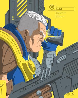 Deadpool 2 Cable Marvel Faceoff Portrait Screen Print by Florey x Grey Matter Art