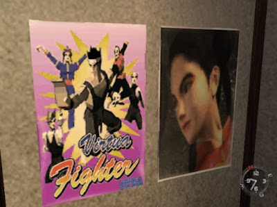 Virtua Fighter posters in Fuku-san's room