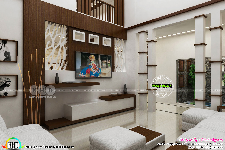 Modern interior design works in Kerala   Kerala home design and ...