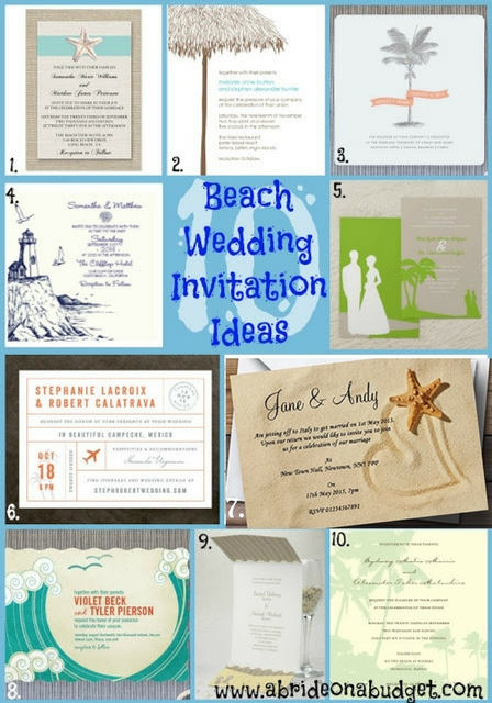 Planning your summer beach wedding? Check out these 10 Beach Wedding Invitation Ideas from www.abrideonabudget.com.