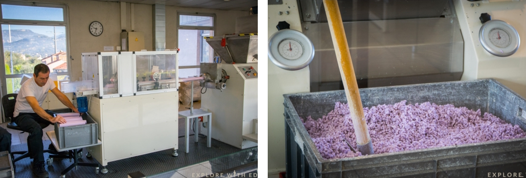 Lavender soap making in Fragonard, Grasse