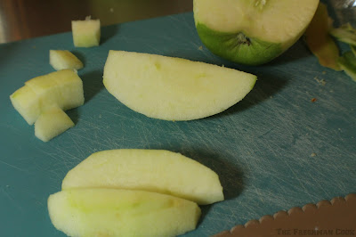 apples, granny smith, chopped