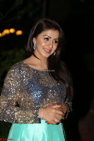 Nikki Galrani in Green Skirt  Top at Marakathamani music launch ~  Exclusive (96).JPG