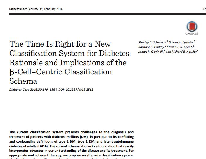 RedgedapS: Hacia una nueva clasificación de la diabetes