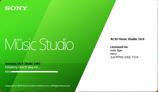 Download Sony Acid Pro Music 10 Keygen محترف التطوير