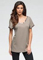 Bluză din material moale, cu un croi larg și confortabil (bonprix)