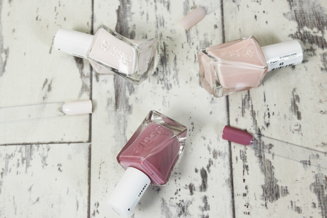 Essie Gel Couture Collection, Pre-Show Jitters, Touch-Up, Fairy Tailor