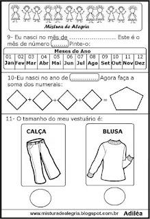 Atividades numerais e matemática