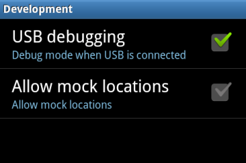 usb debugging