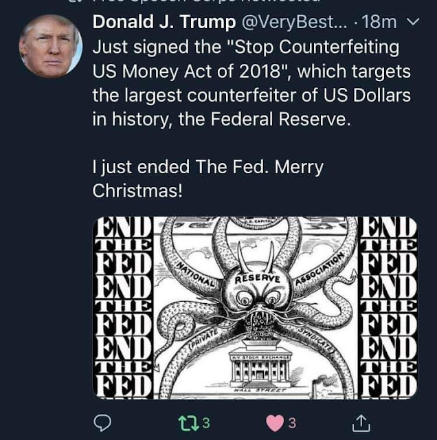 President Trump Tweet: I Just Ended the Fed THE%2BFED%2BIS%2BDEAD