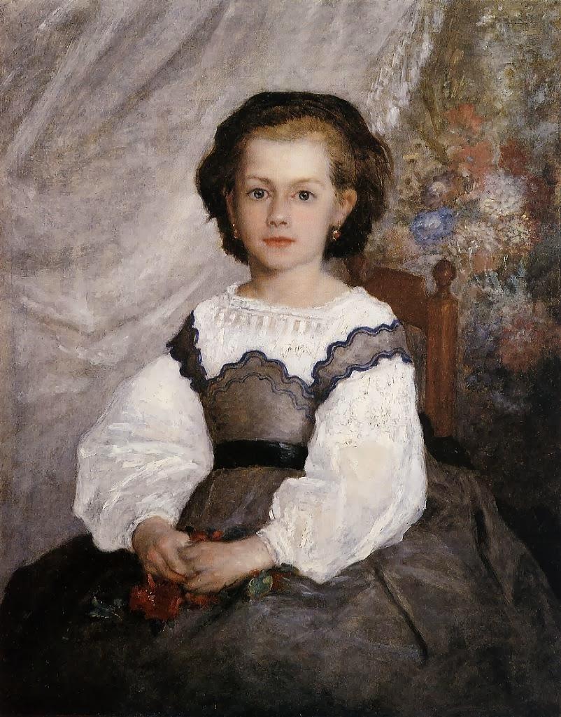 solitary dog sculptor: Painter: Renoir Pierre-Auguste ...