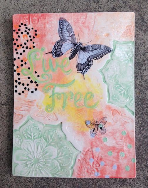 Live Free ceramic art
