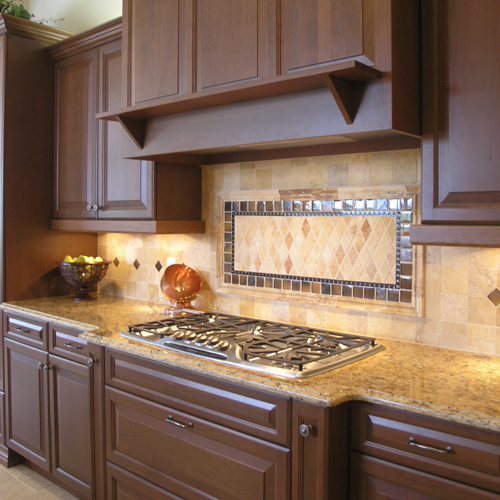 decorative slate stone tiles mosaic kitchen backsplash ideas