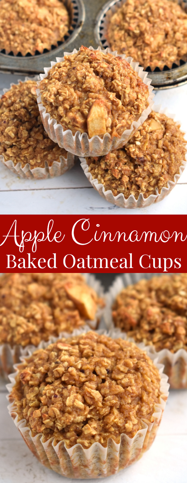 Apple Cinnamon Baked Oatmeal Cups recipe