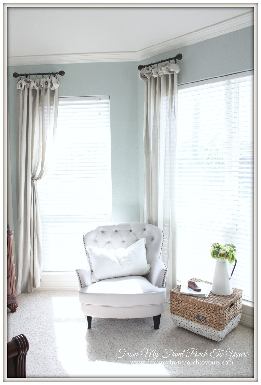 From My Front Porch To Yours- French Farmhouse Bedroom Seating Area