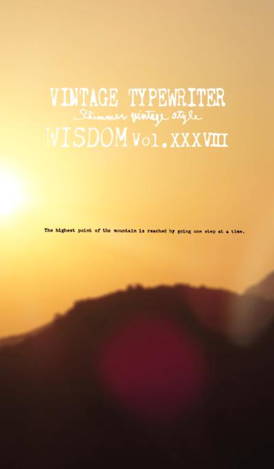 VINTAGE TYPEWRITER WISDOM Vol.XXXVIII