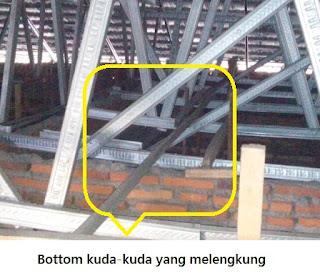Kesalahan struktur rangka atap bajaringan galvalum 1