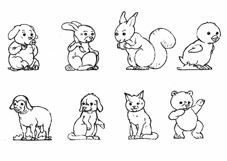Dibujos De Animales Terrestres Para Colorear E Imprimir: Imagenes De Animales Terrestres Para Imprimir