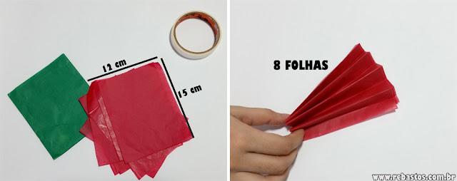DIY Guirlanda fácil com papel seda - pompom