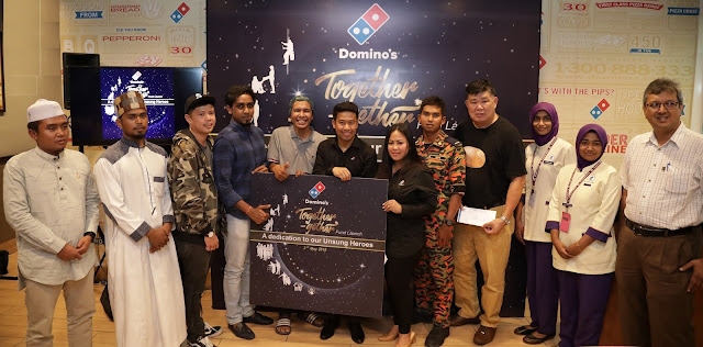 DOMINO'S LAUNCHES TOGETHER-GETHER FUND IN HONOUR OF UNSUNG HEROUS,
