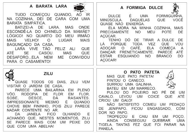 56 Textos pequenos para imprimir