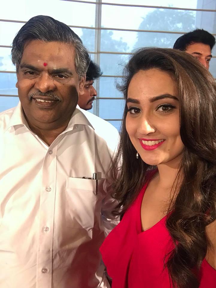 Telugu Anchor Manjusha Long Hair Photos In Red Dress
