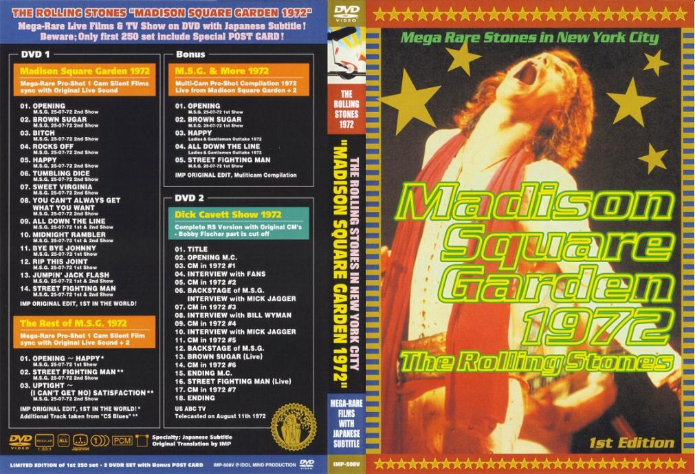 The Rolling Stones - Madison Square Garden 1972 (2xDVD5/NTSC/pro-shot)