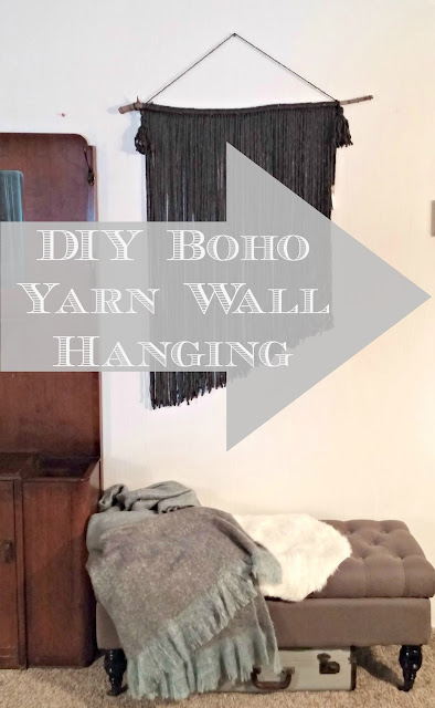 how to make a boho yarn wall hanging