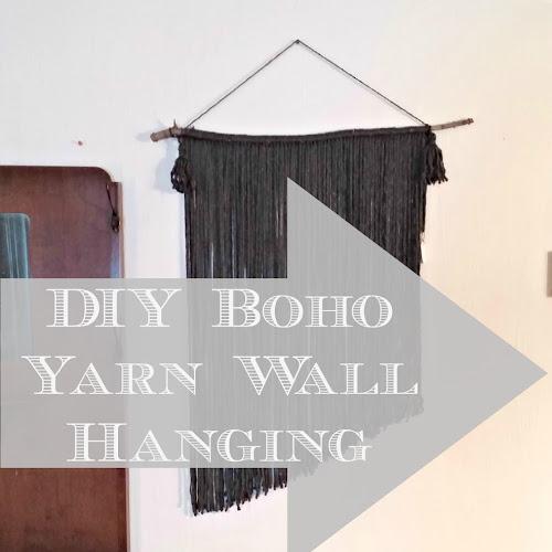 DIY Boho Yarn Wall Hanging