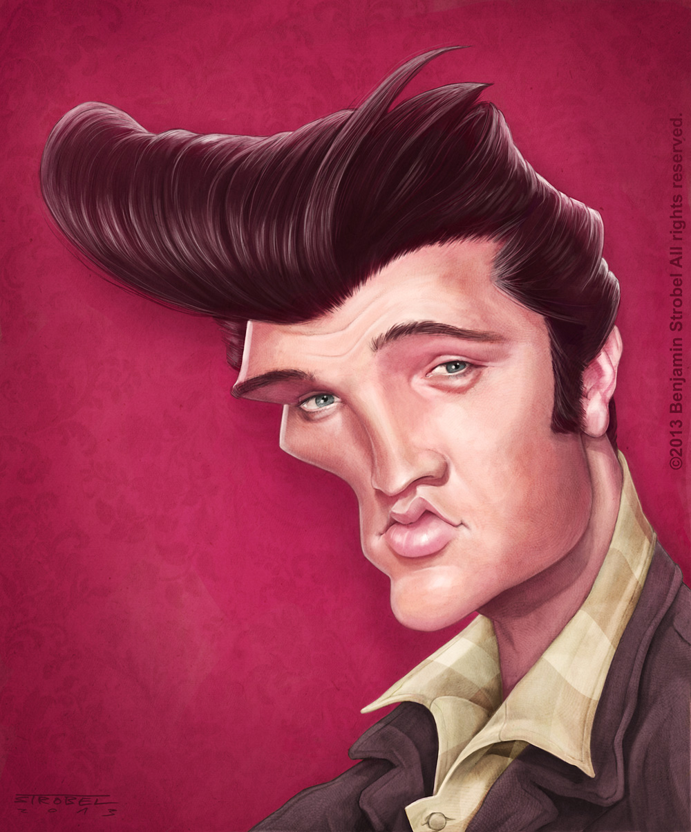 Elvis Caracature