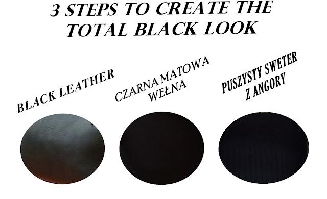 All Black outfit ideas,czarne spodnie i kurtka w stylizacji