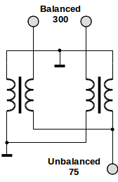 Matching transformer schematic