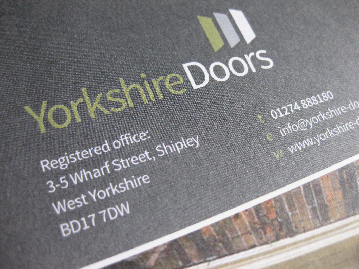 ... for Yorkshire Doors has been designed by Aldred Design. An updated brand identity has also been created and applied to all literature and promotional ... & What\u0027s new?: logo