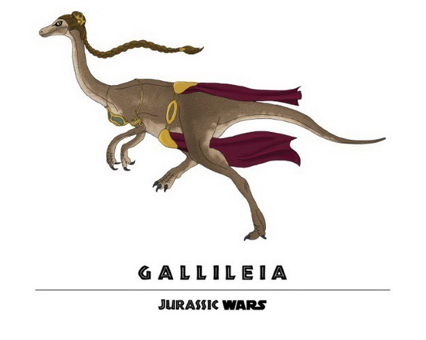 Princess Leia + Gallimimus = Gallileia