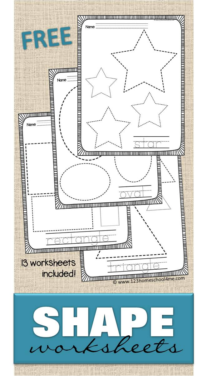 FREE Shape Worksheets – Shape Worksheets