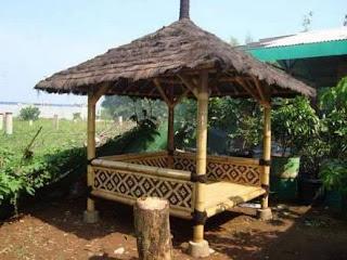 jasa pembuatan gazebo saung bambu Bandung murah bagus berkualitas